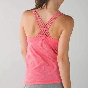 Lululemon Sunset pink built in sports bra tank top